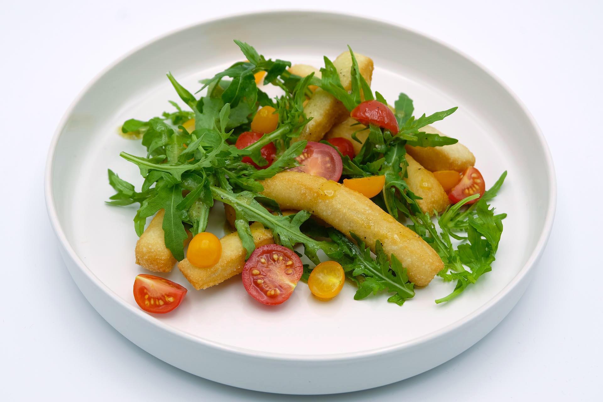 Rezept Angioletti fritti mit Rucola und Tomaten Popdish Foodblog, Gerichte, die knallen,