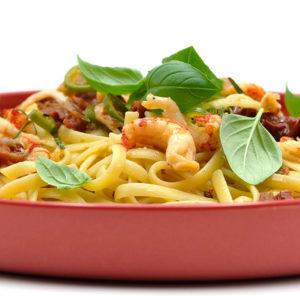 Rezept Linguine mit getrockneten Tomaten, Flusskrebsschwänzen und Rosmarin Popdish Foodblog, Gerichte, die knallen,