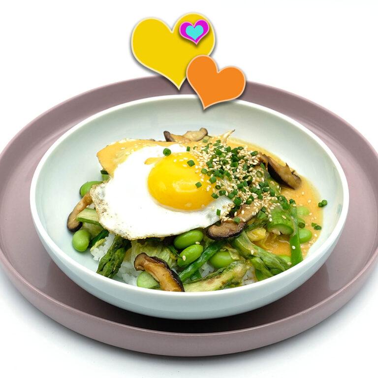 Rezept für Veggie Bibimbap - vegetarische Reisbowl Popdish Foodblog, Gerichte, die knallen,