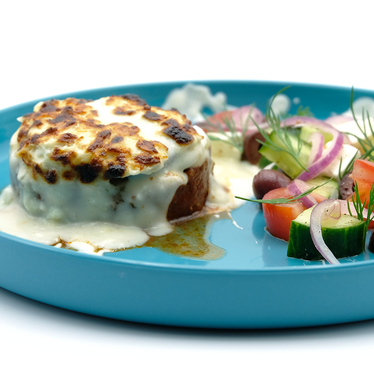 Rezept für Moussaka und griechischer Salat Popdish Foodblog, Gerichte, die knallen,
